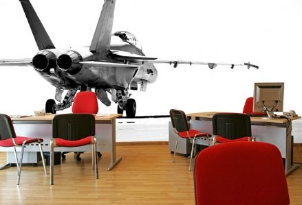 F18 fighter aircraft - jet wall mural